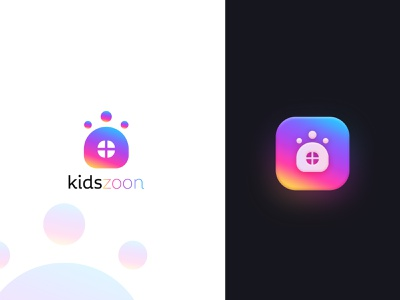 Logo Design for kidszoon typography simple clean minimal modern logo icon app logo popular logo design kids logo home logo design logo mark logo identity app creative logo branding flat vector
