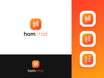 Logo Design for homchat icon abstract abstract logo minimal clean simple chat logo h logo modern logo logo logo design logo type popular app app logo design creative logo branding flat vector