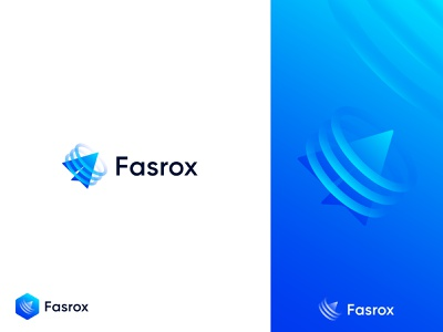 Logo Design for fasrox fast simple icon app logo browser gradient modern logo 3d abstract abstract logo popular logo logo design identity logo app popular creative logo vector branding flat