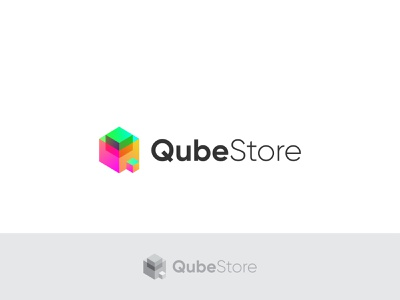 Logo Design for QubeStore icon app logo colorful 3d store logo popular logo popular abstract logo design logotype logo mark modern logo logos logo design identity logo creative logo vector flat branding