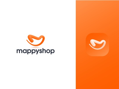 Logo Design for mappyshop smile shopping logo icon simple shopping app app logo m logo 3d logo popular logo popular design logotype modern logo logo mark logo design logo creative logo vector flat branding