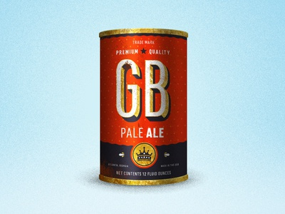 Georgia Boy Pale Ale beer can illustration spot pale ale