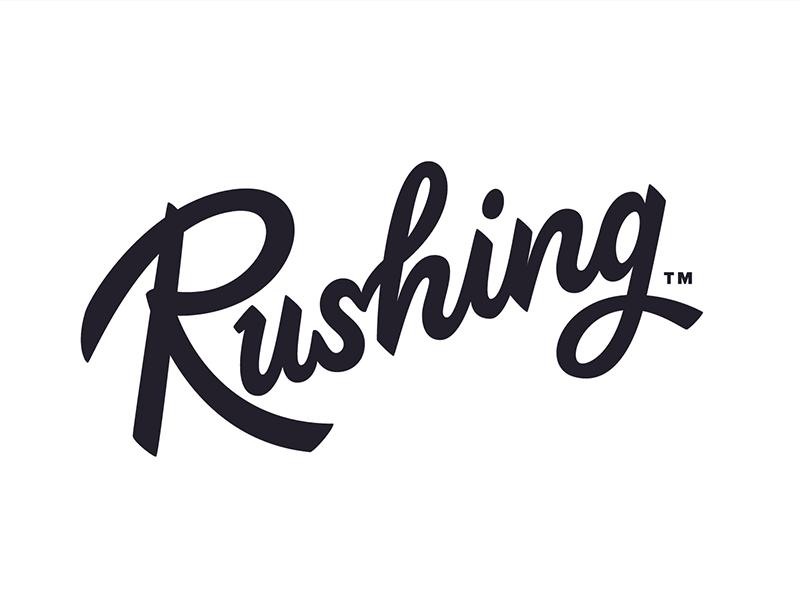 Rushing (take 2) lettering rushing logotype branding identity