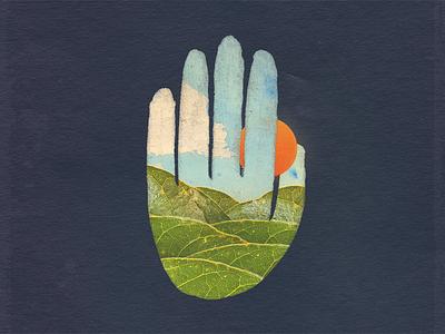 Sky Hand experiment explore hand sky greens