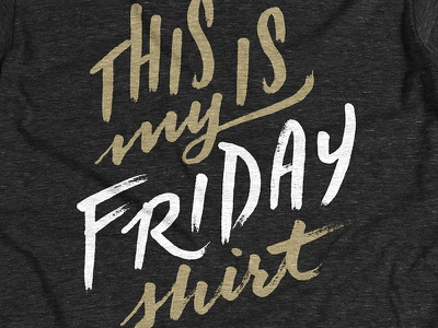 FRIDAY! friday happy shirt tshirt cottonbureau print screenprint ಠ‿ಠ