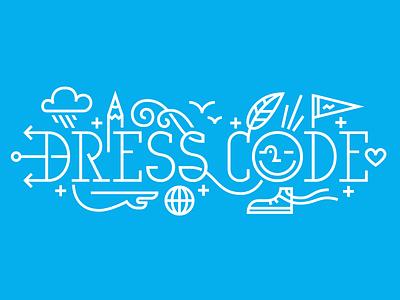 Dress Code dresscodeny dress code logo logotype illustration lines line drawing