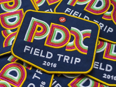 PDX Field Trip portland pdx typography type brand design badge patch