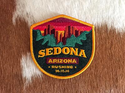 Sedona Patch  badge forest mountains az arizona marriage wedding travel southwest sedona patch