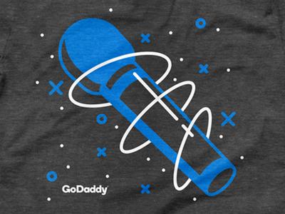 GoDaddy Talent Showcase vector illustration talentshow show talent tshirt shirt godaddy microphone
