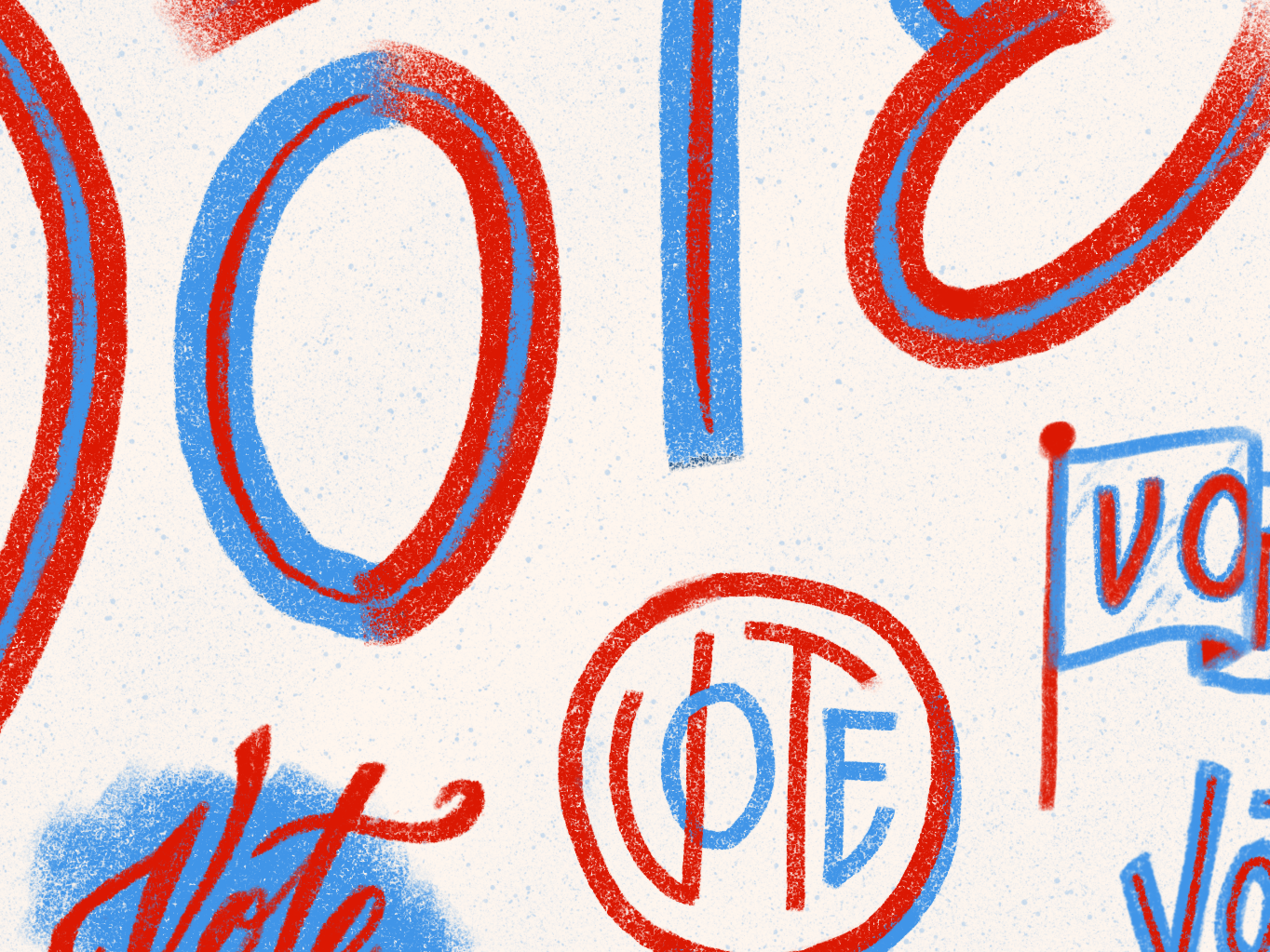 Vote, please for the love of God. sketch doodle ipadpro letters lettering vote