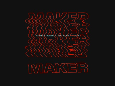 Maker glitch design letters type typography
