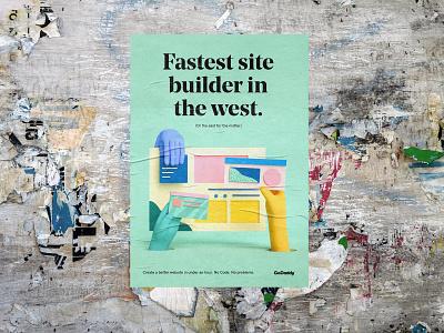 Fastest site builder in the west. website builder websites print cgi 3d graphic design design poster godaddy