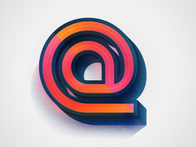 @ at sign @ glyphs symbols email type typography illustration
