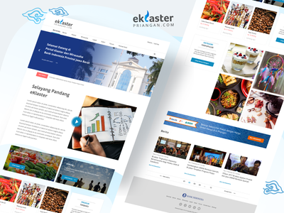 Ecluster Priangan web project bank indonesia ui design webdesign web app uiux