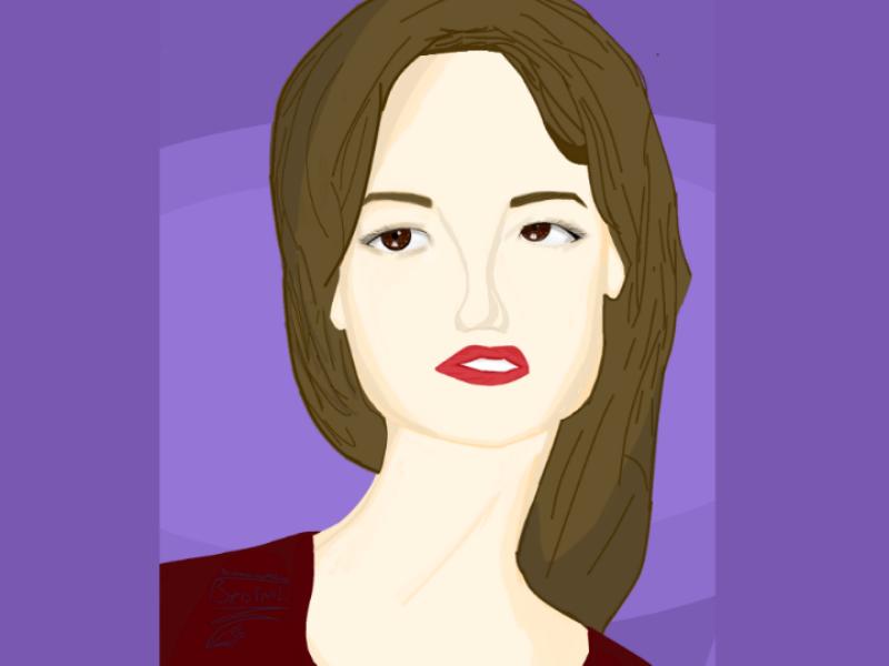 Girl in draw digitalart art draw