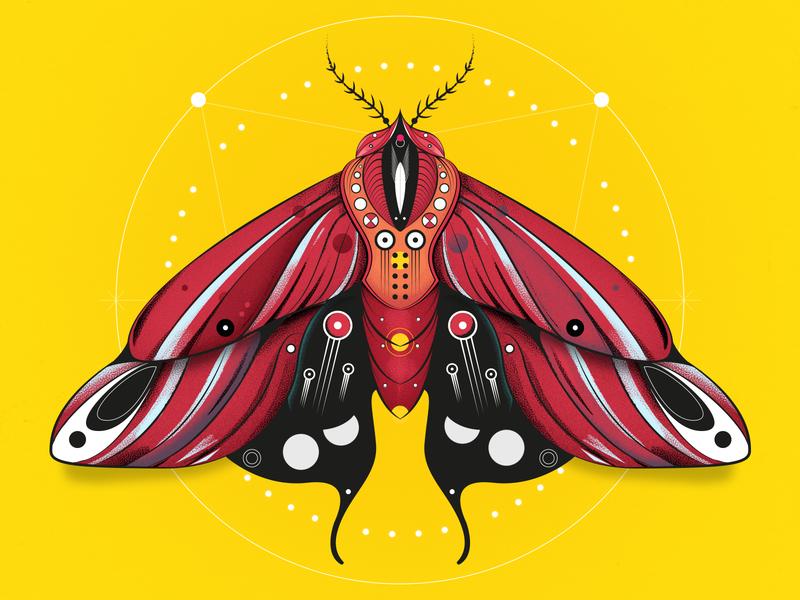 ⚡Moth milkshake word animals find creativity design illustrator webdesign photoshop dribbble illustration