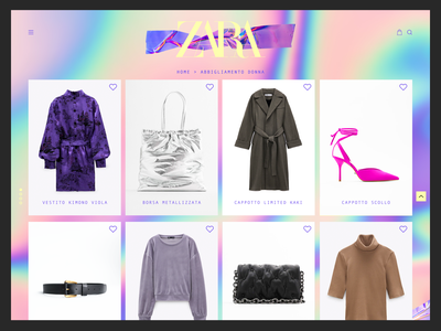 ZARA - Products product page productshot newsletter template aftereffects animation adobe webdesign dribbble photoshop