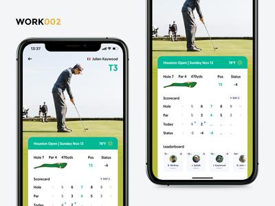 Live Golf Score - Mobile concept