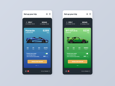Car Rental - Fast Booking Concept