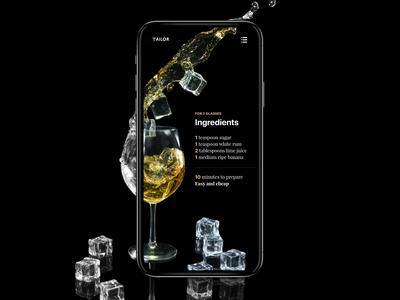 Daily UI 40 — Cocktail Recipe Mobile App