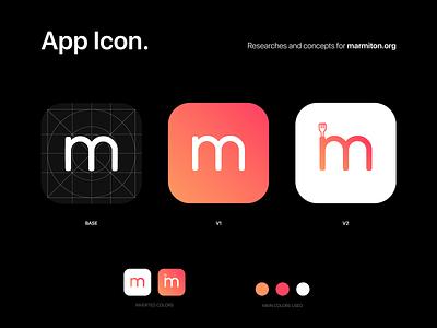 Marmiton - App Icon concepts branding concept marmiton illustration logo identity branding app application