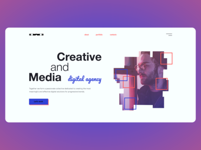 Digital agency. Concept
