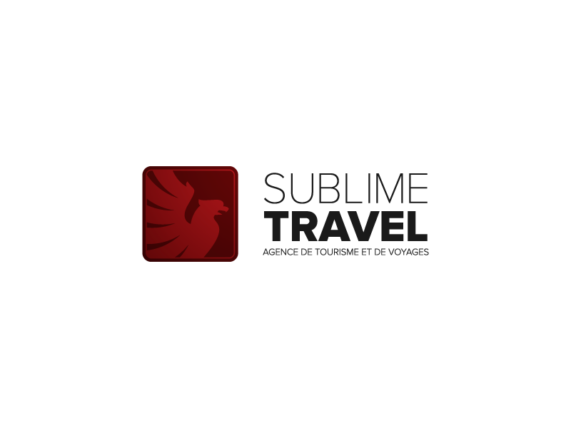 Sublime Travel logo voyage tourism algeria eagle logo travel sublime