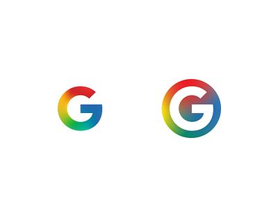 Google logo Retouch mech gradient smooth google branding logo coloring