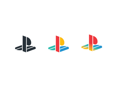 PlayStation logo redesign logo geometric retro redesign ps video games vintage sony playstation game gamer branding brand