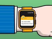 Apple Watch Illustration for a presentation