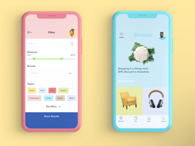Beacons Project design app interface user