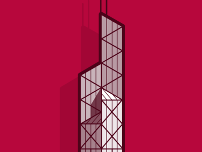 Hong Kong building architecture illustration
