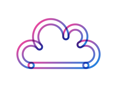 SaaS cloud cloud logo