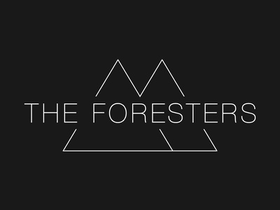 The Foresters band logo brand helvetica