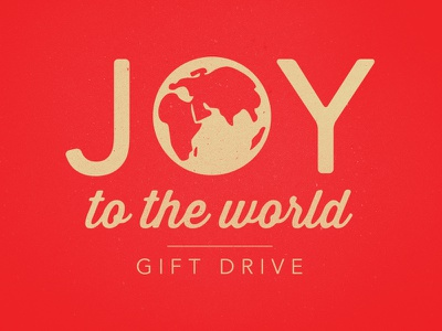 Joy To The World Gift Drive christmas charity red texture