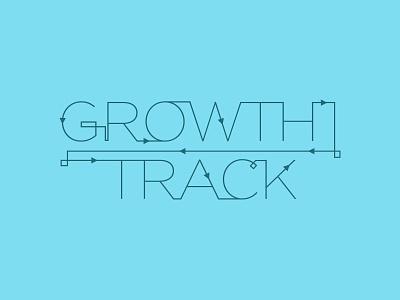 Growth Track blue arrows track progression follow gotham