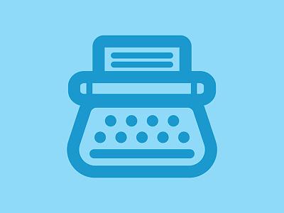 Typewriter icon iconaday logo symbol writer typewriter