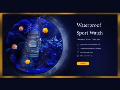 Concept for Waterproof G-Shock banner