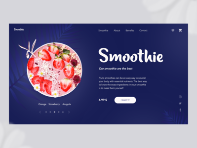 Banner for an Online Smoothie Store