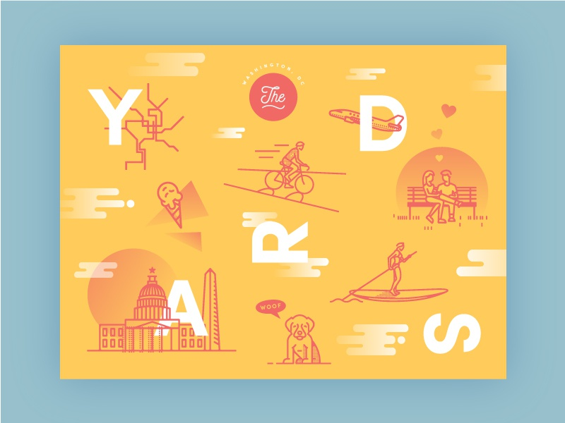 Theyards dribbble poster