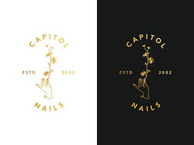 Capitol Nails nail salon dc identity mark logo