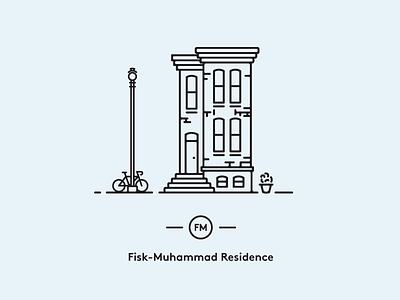 Fisk-Muhammad Residence brownstone dc washington rowhouse