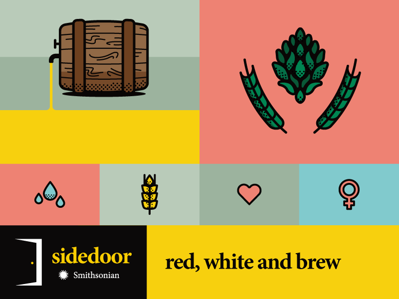Red white brew dribbble