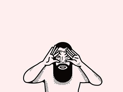 Portrait Ai Weiwei person weiwei illustration portrait