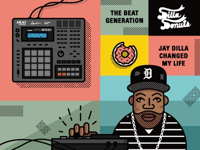 J Dilla + Smithsonian illustration jdilla smithsonian
