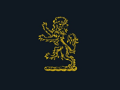 Smithsonian Heraldic Lion throwback illustration smithsonian