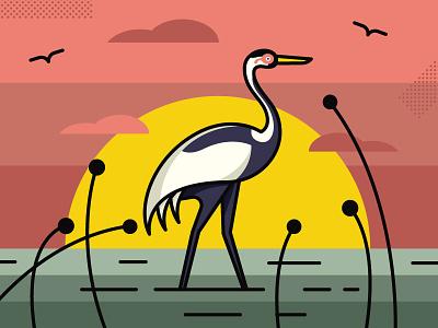 White-naped Crane endangered smithsonian illustration crane
