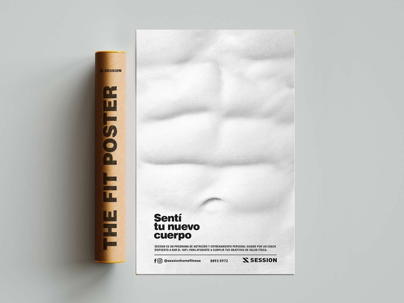 The Fit Poster: The fittest poster in the world. outdoor experiment graphic design costa rica fitness design poster