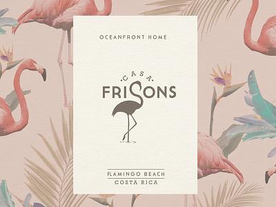 Casa Frisons vacation costa rica house beach graphic design branding logo