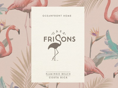 Casa Frisons vacation costa rica house beach graphic design branding logo